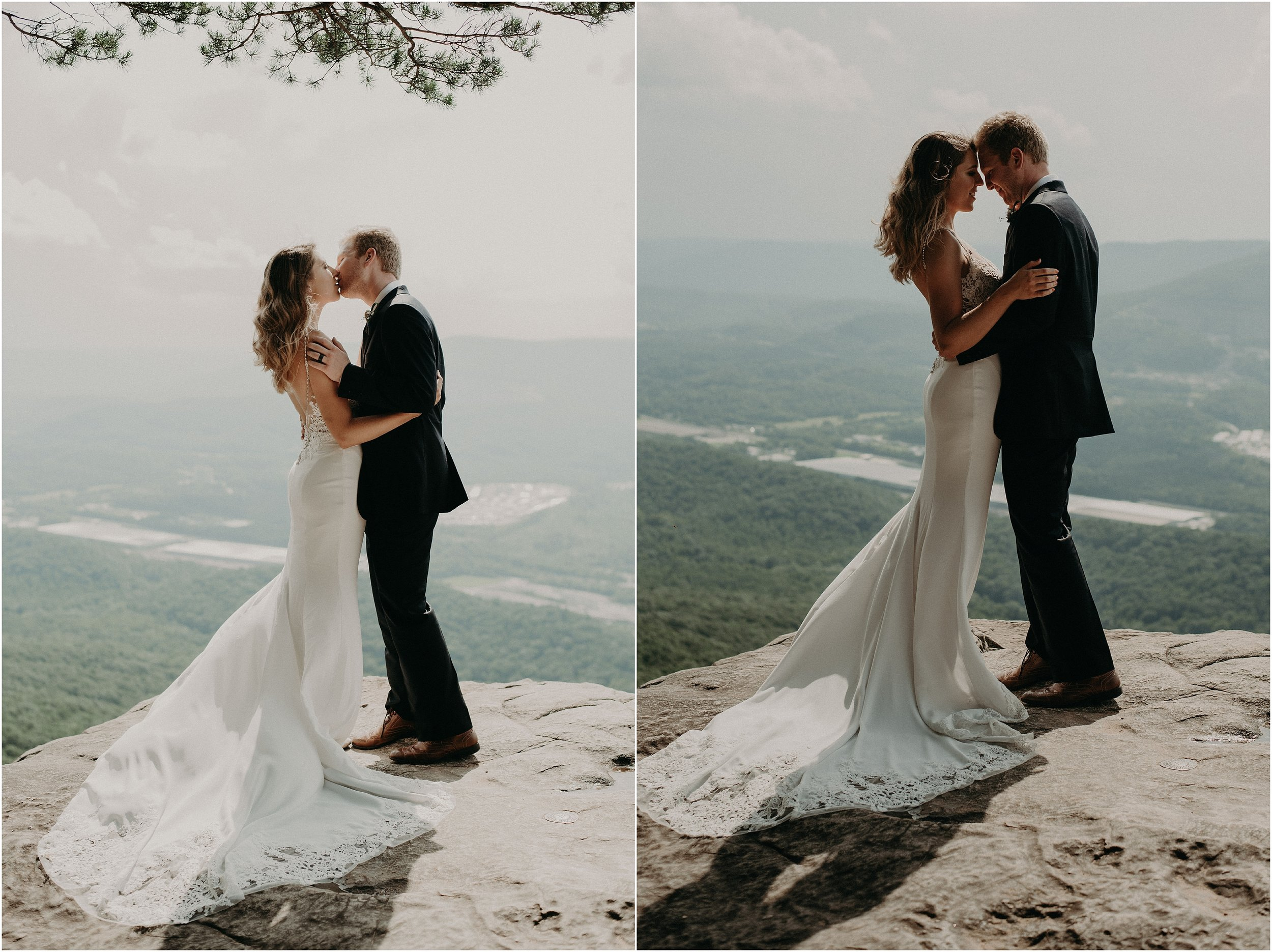 Sweeping panoramic vistas of Sunset Rock make for stunning bride and groom portraits