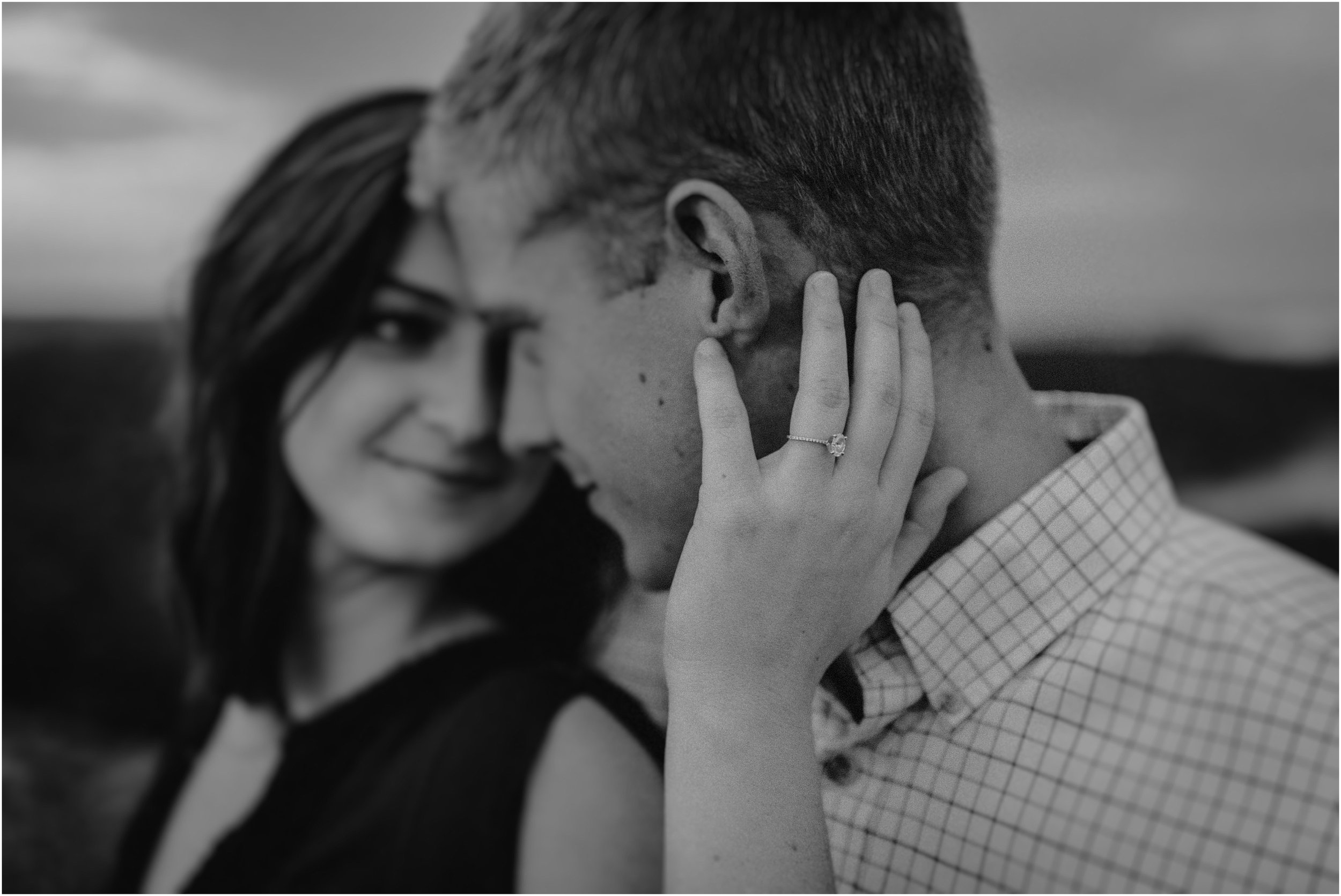 Intimate ring shot on a couple on Raccoon Mountain