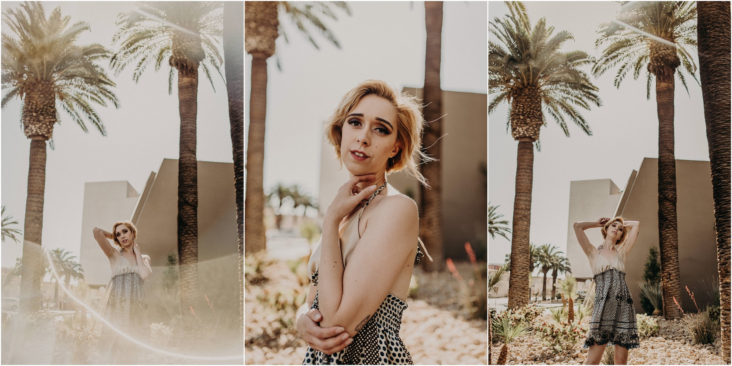 Jenna Davis, Las Vegas model, poses after styled elopement inspiration shoot