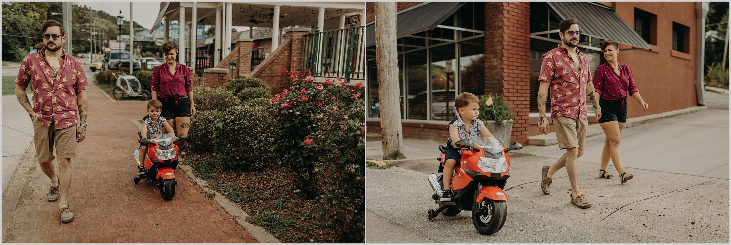 An urban family photo session in St. Elmo, Chattanooga, Tennessee