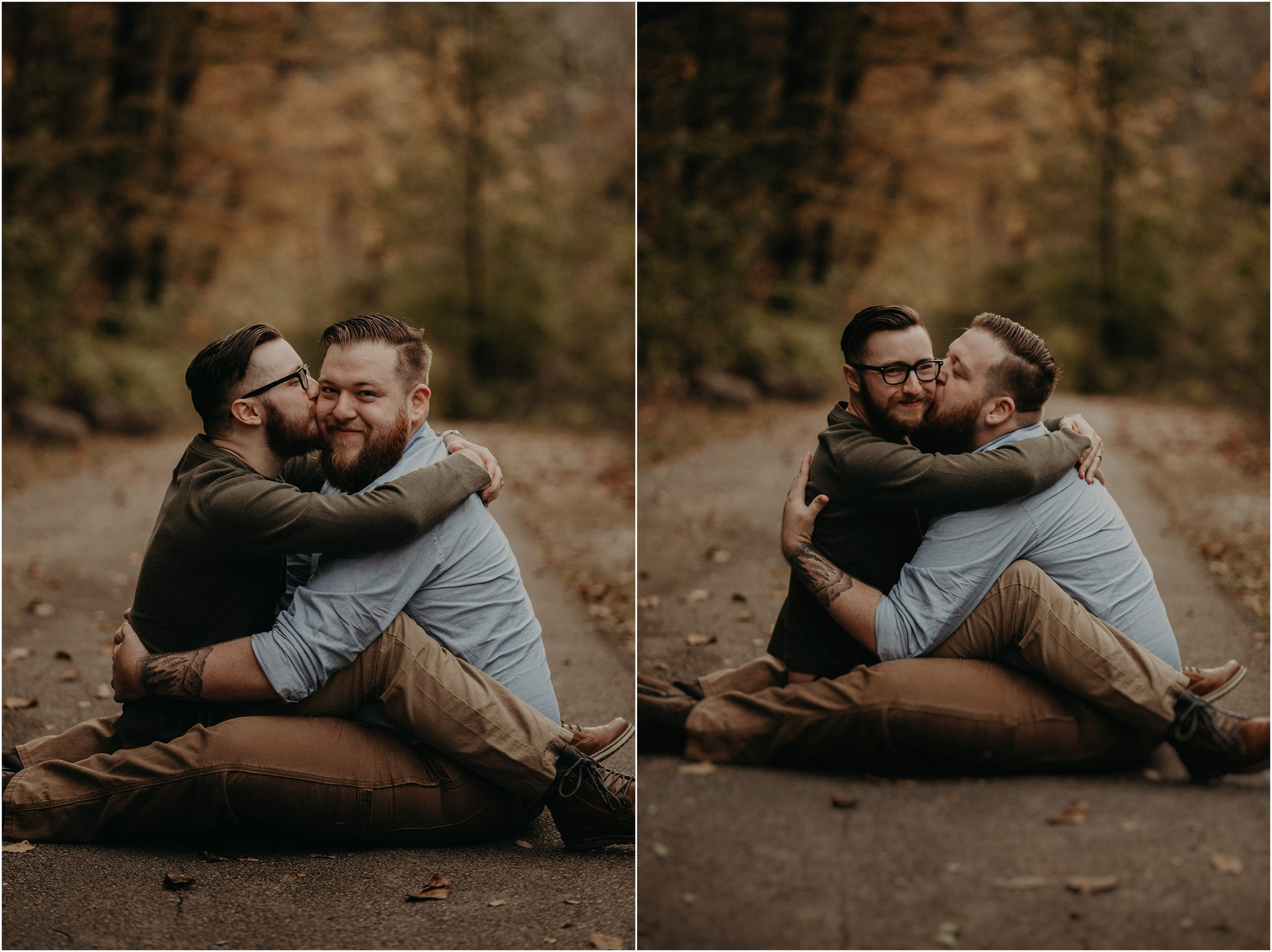 Cozy tangles for a newly engaged couple in Chattanooga, Tennessee