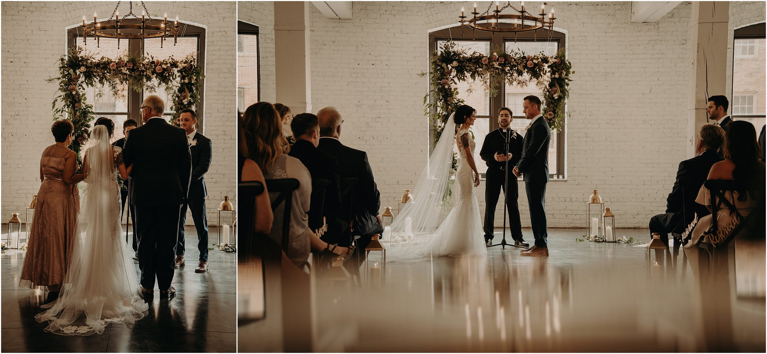 Romantic and timeless ceremony details for this wedding at Co. 251 in Chicago, Illinois
