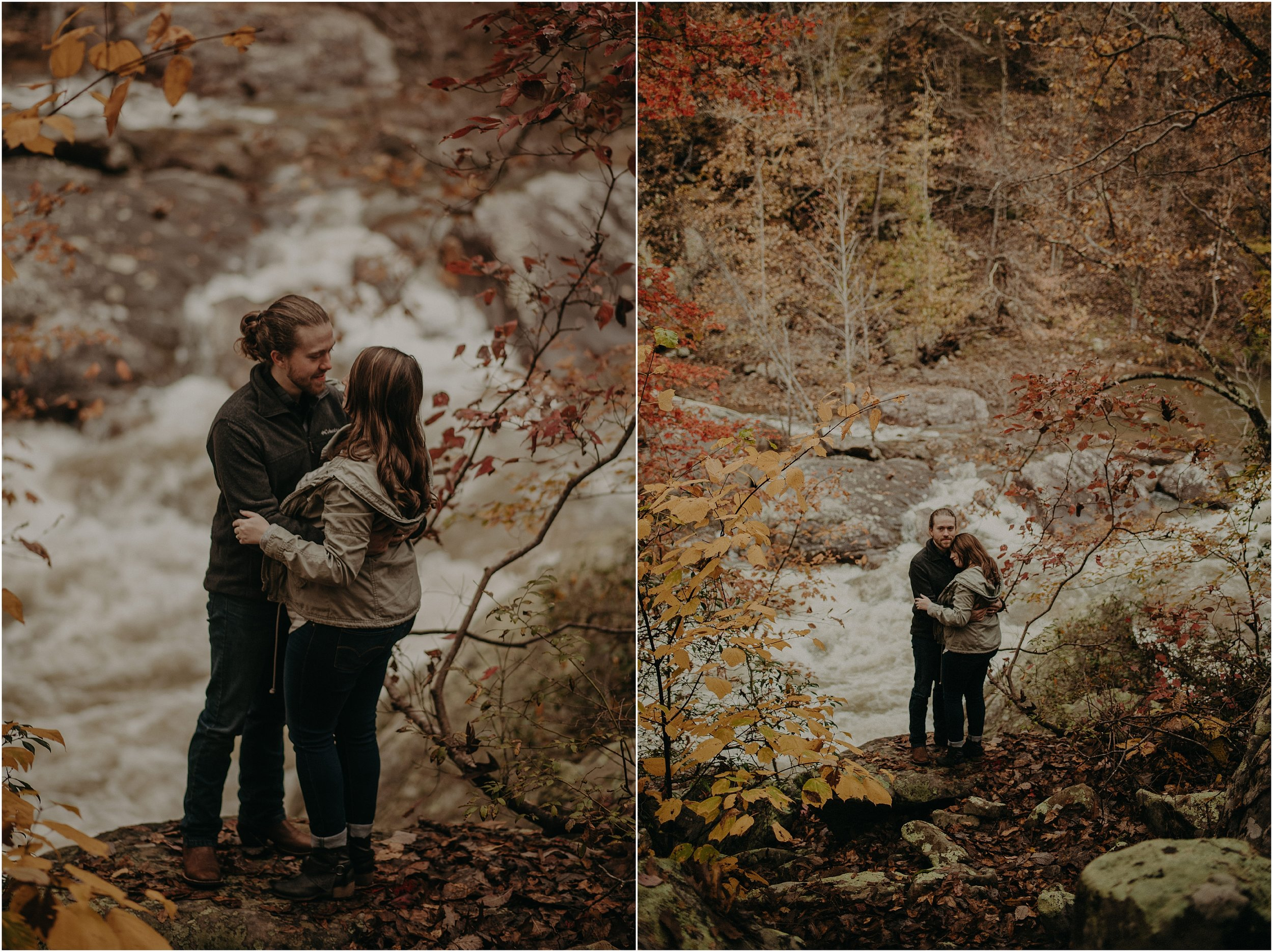 Adventure couple's photo session at Chickamauga Creek Gorge in Soddy Daisy, Tennessee