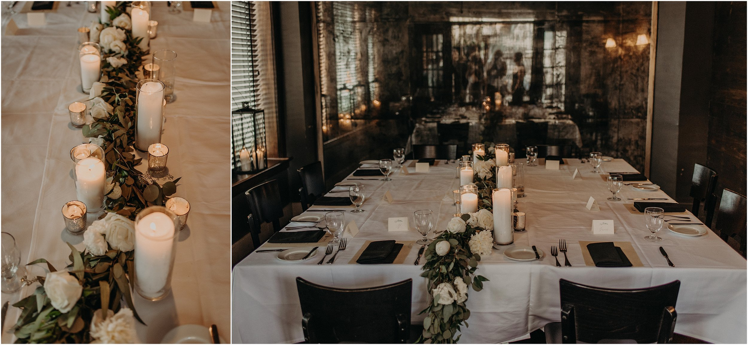 Intimate shared tablescape for the family and guests at St. John's Restuarant