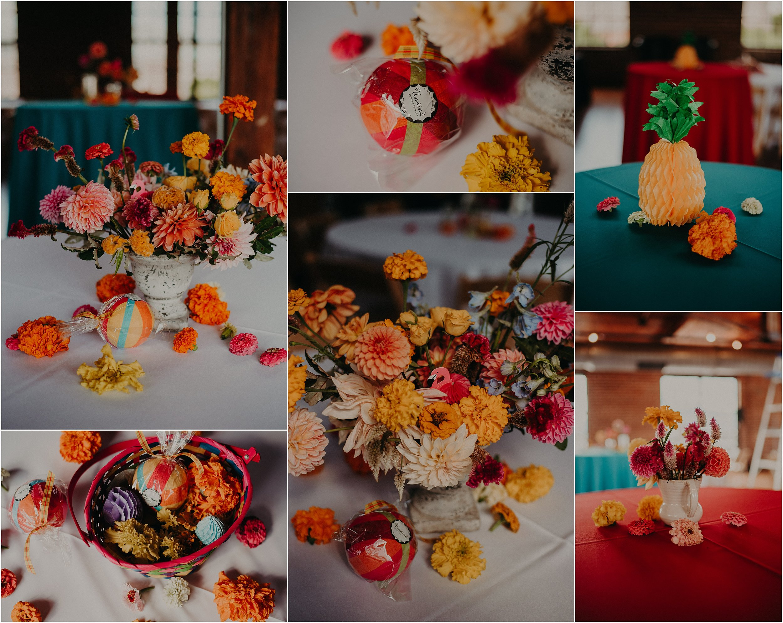 Colorful details at this festival inspired wedding