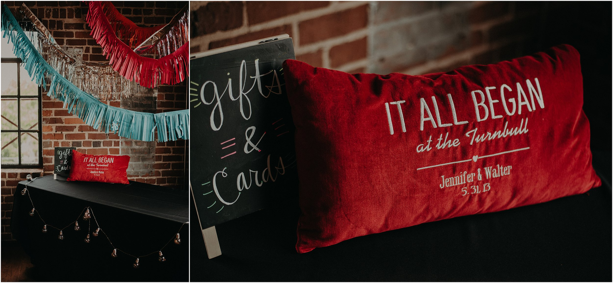 Custom made red velvet commemorative pillow