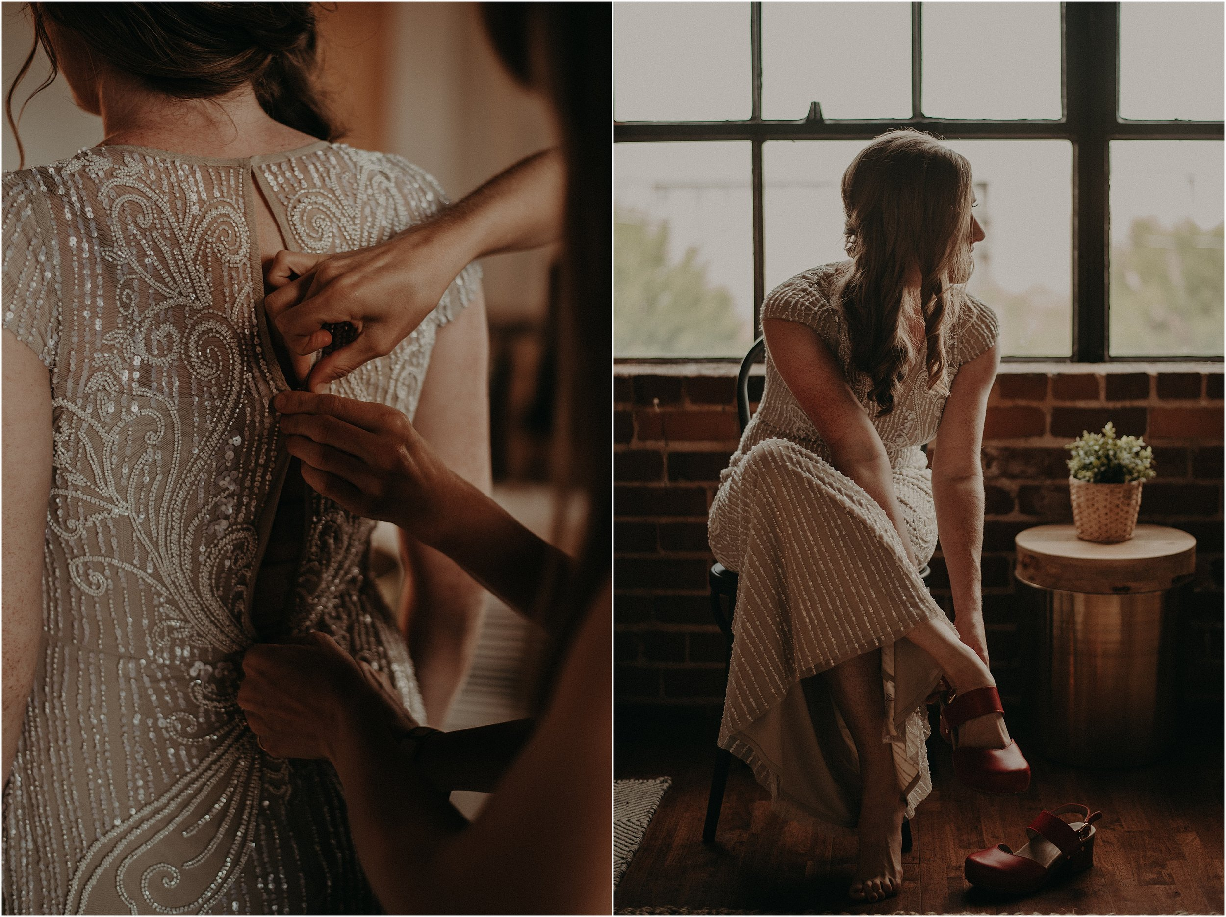 BHLDN Gatsby inspired beaded gown