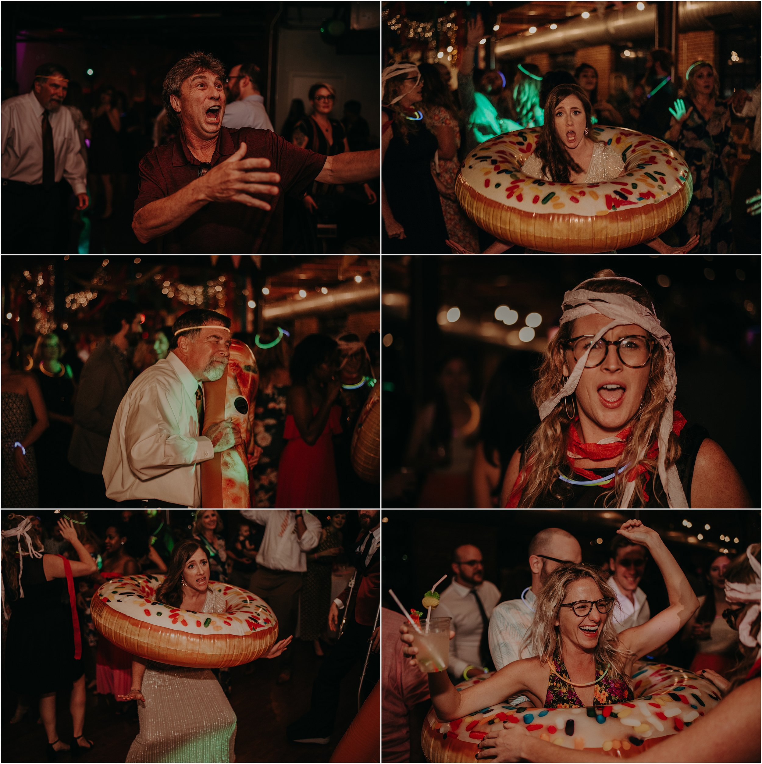 Things get weird and wild at this festival-inspired wedding reception