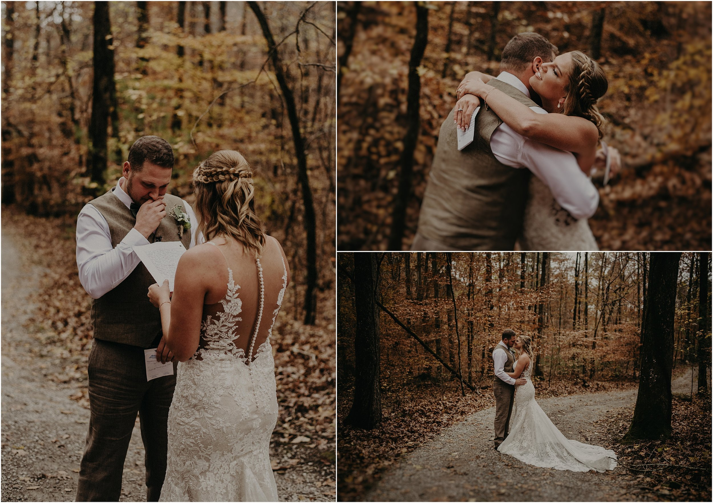 A fall first look at this wedding near the Ocoee River in Tennessee