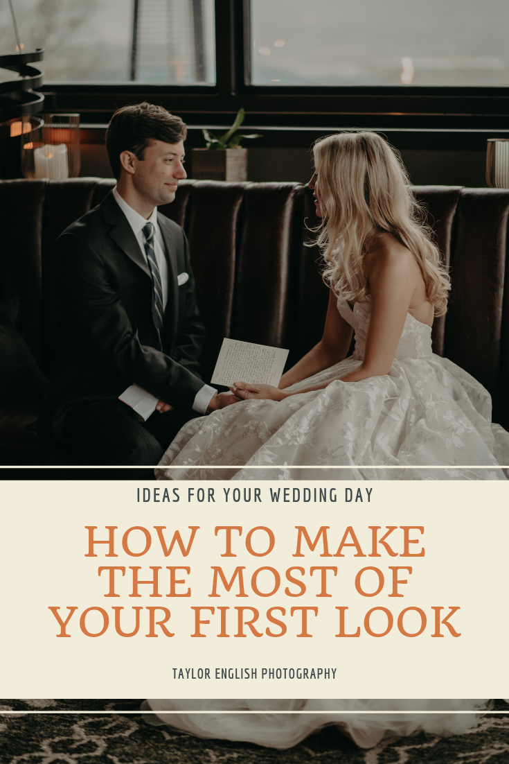 Ideas on how to make the most of your first look on your wedding day