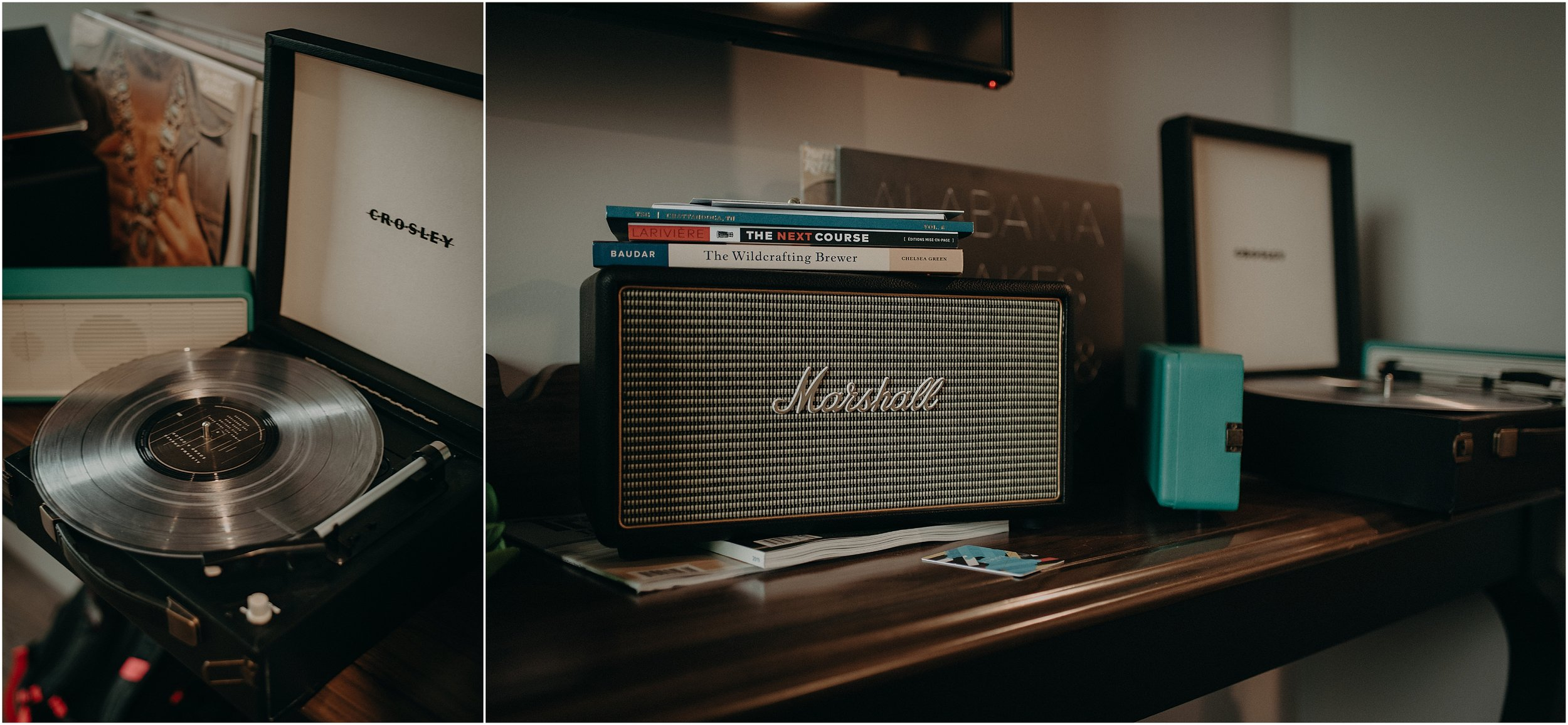 The Edwin Hotel included a vintage-inspired Crosley record player with handpicked records!