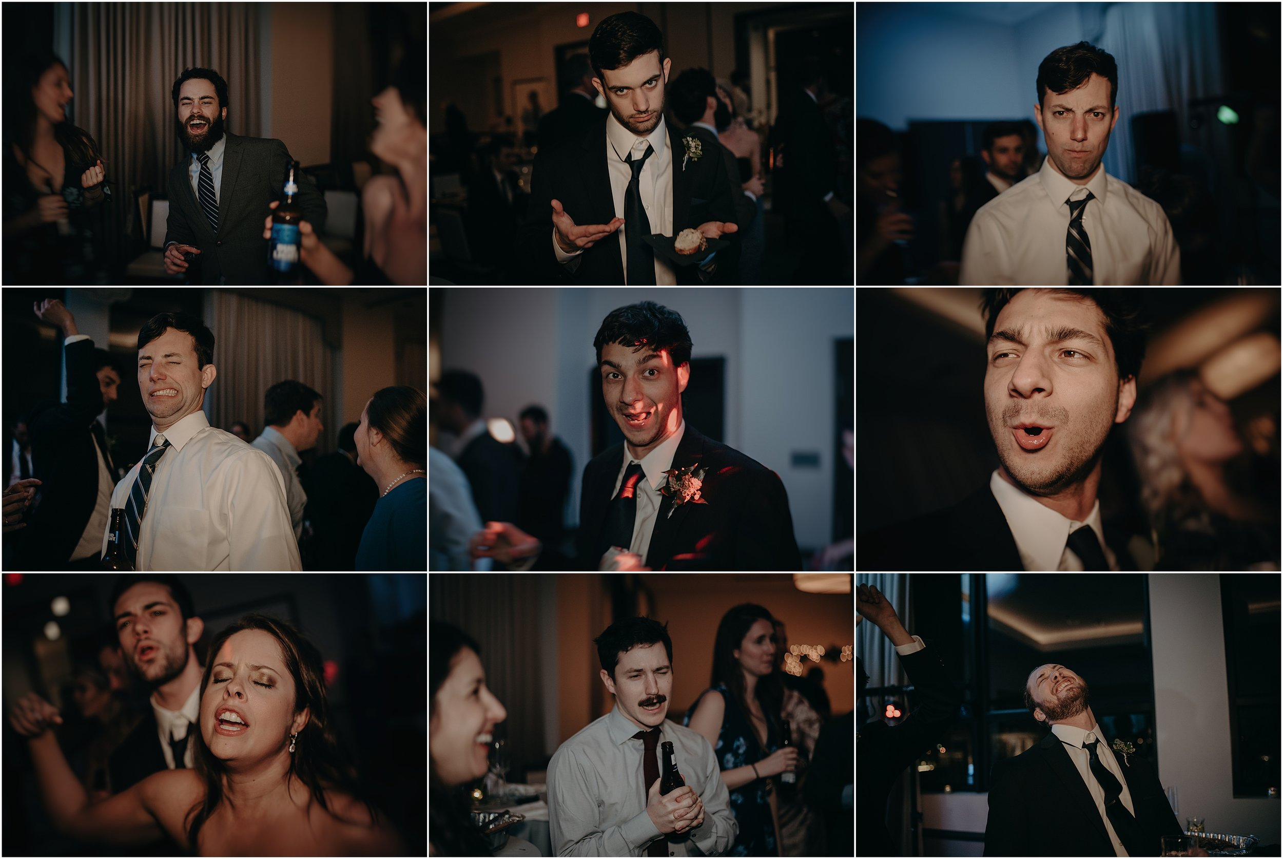 The faces of the reception