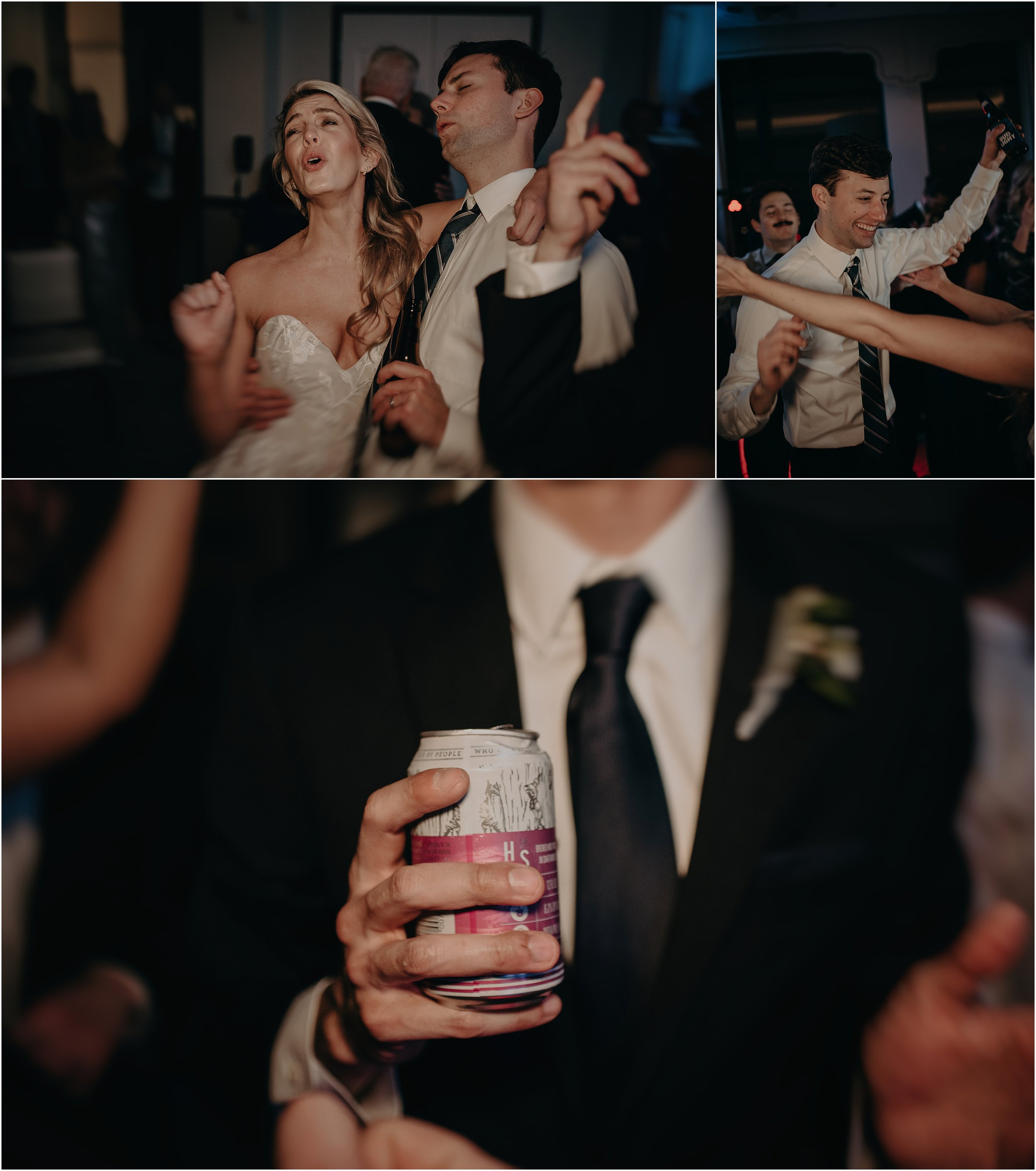 Hutton and Smith beer fuels the dancing of the reception