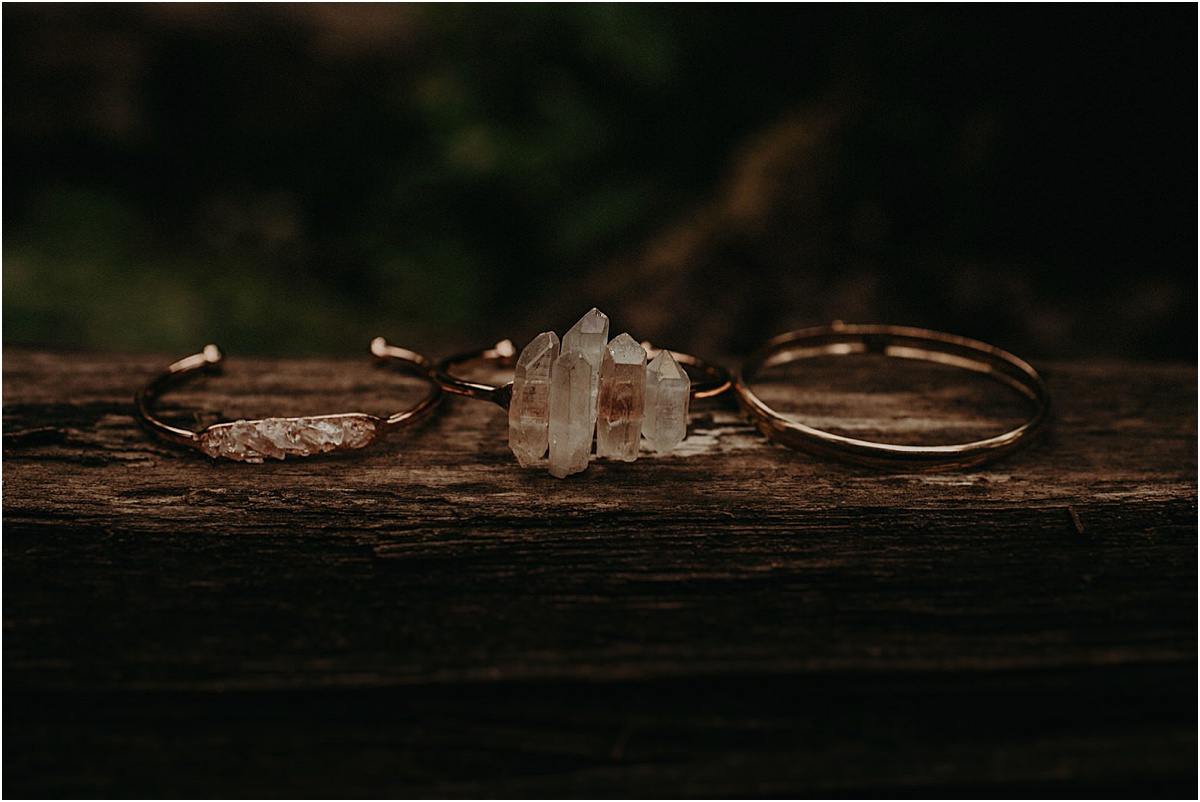 wedding rings sitting next to each other