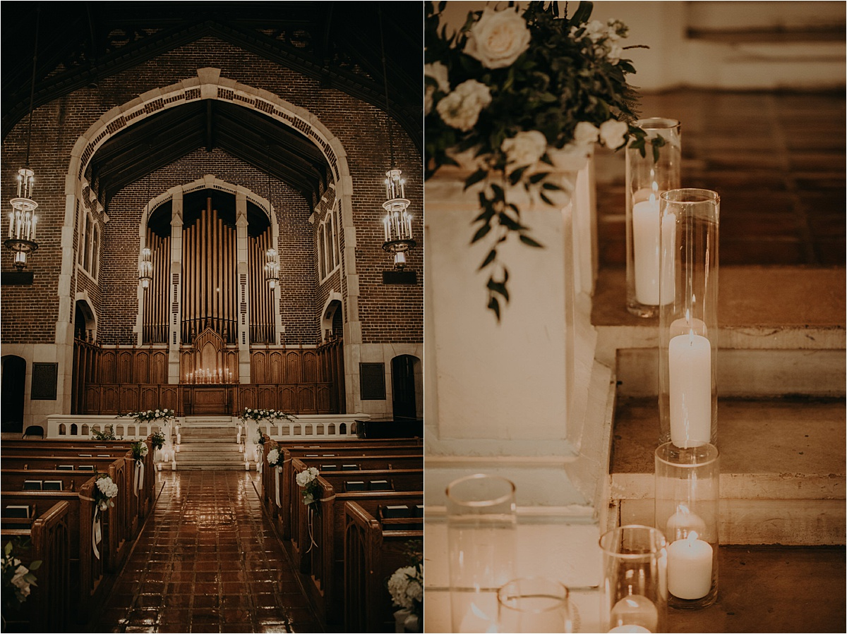 Minimal decor was needed in this stunning chapel