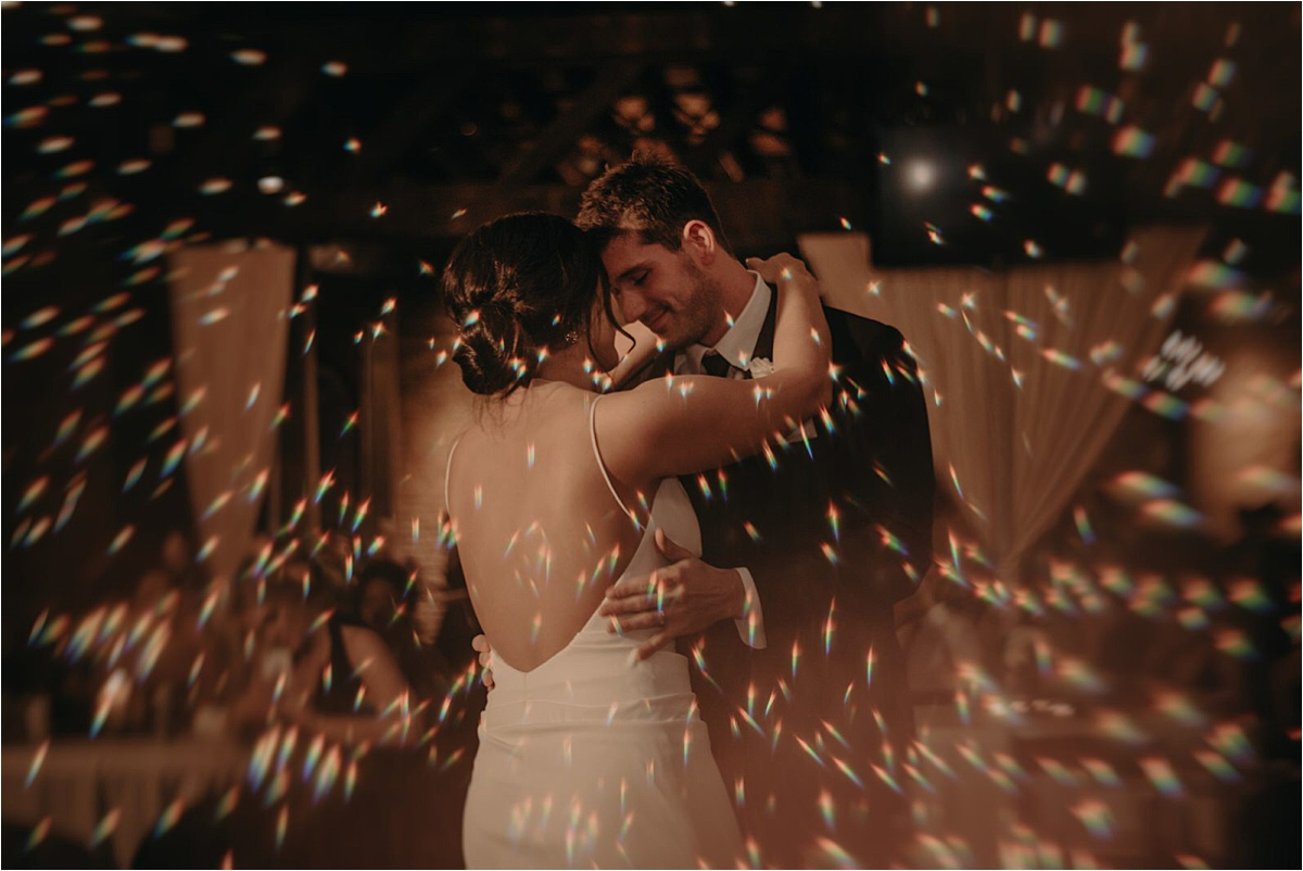 Light tricks for a magical first dance photo