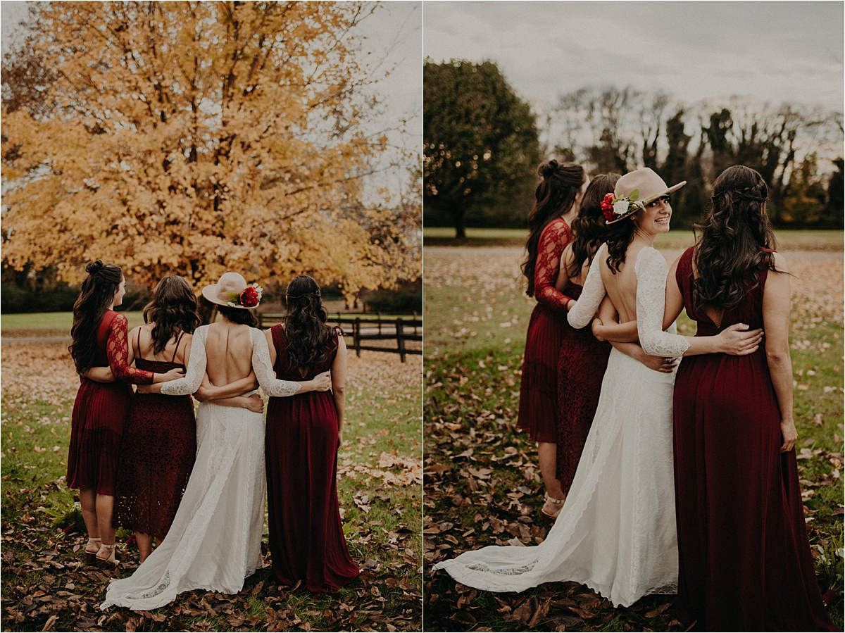 A beautiful bohemian folk wedding in November with an eye-catching autumn palette