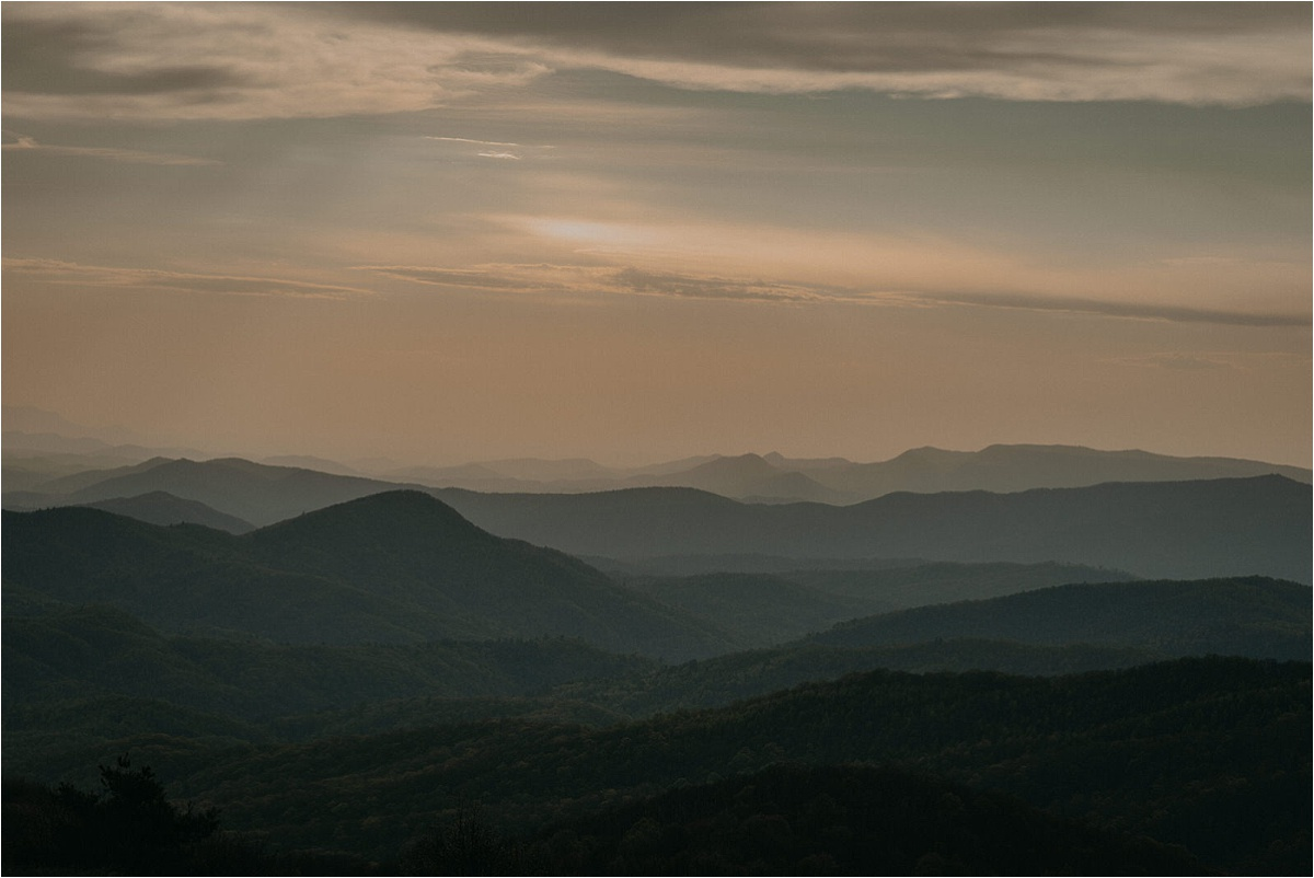 An incredible sunset at Max Patch Mountain in North Carolina