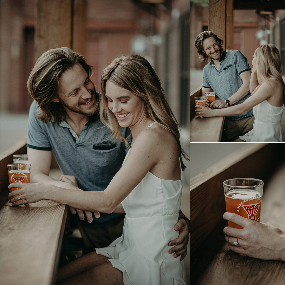 fun outdoor engagement session by chattanooga Tennessee wedding photographer taylor english photography