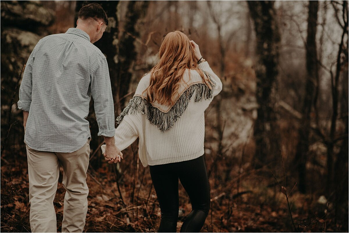 engagement session in tennessee hills by chattanooga wedding photographer