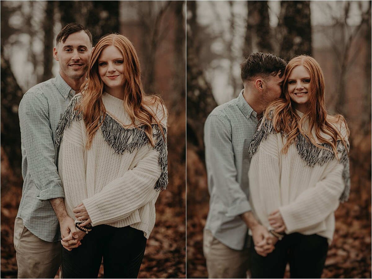 A Tennessee mountaintop engagement session outside of Chattanooga, Tennessee