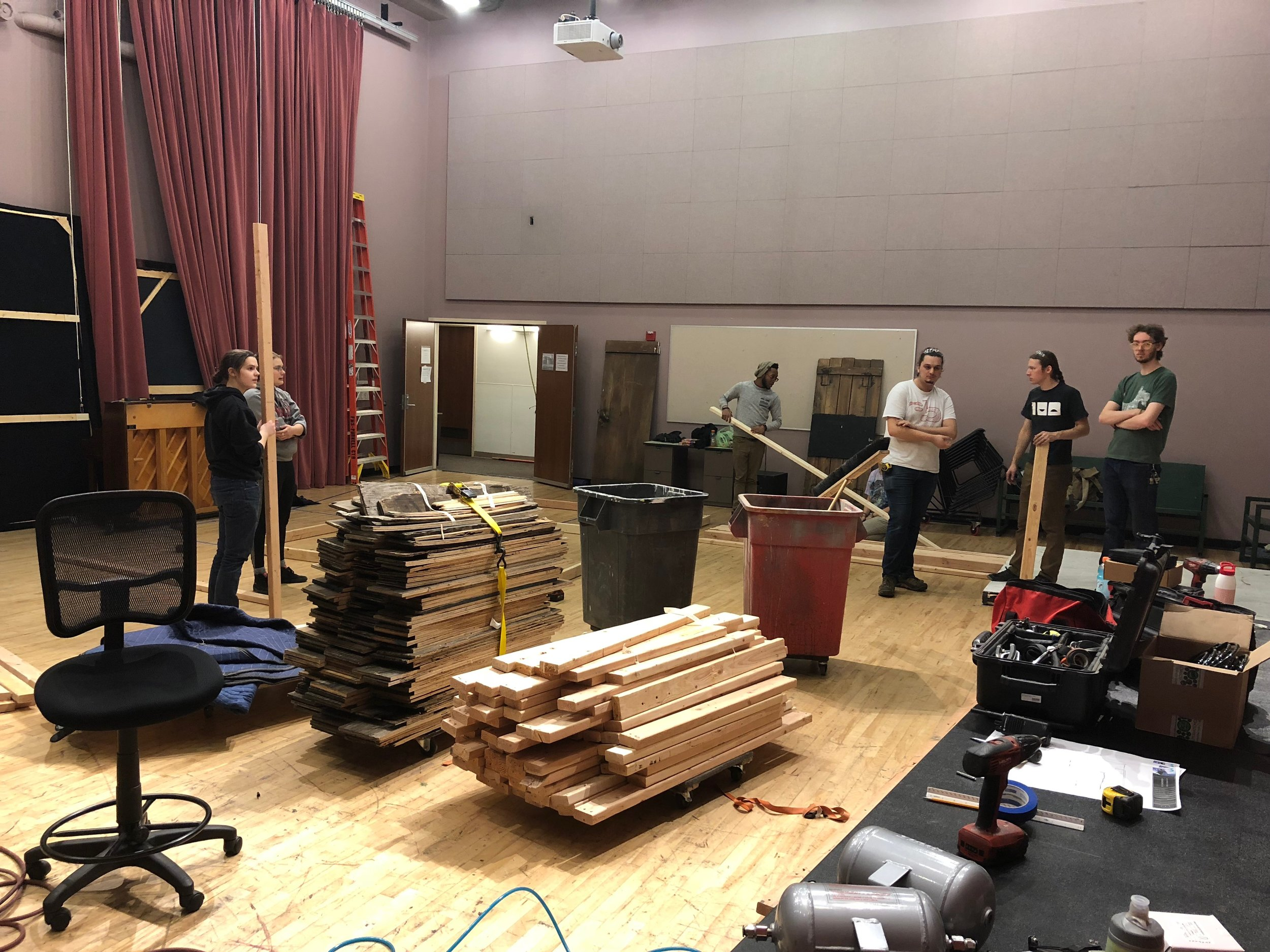 loading in wood
