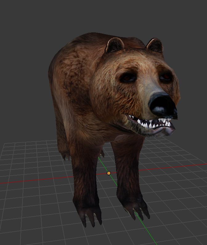Bear with applied UV Texture