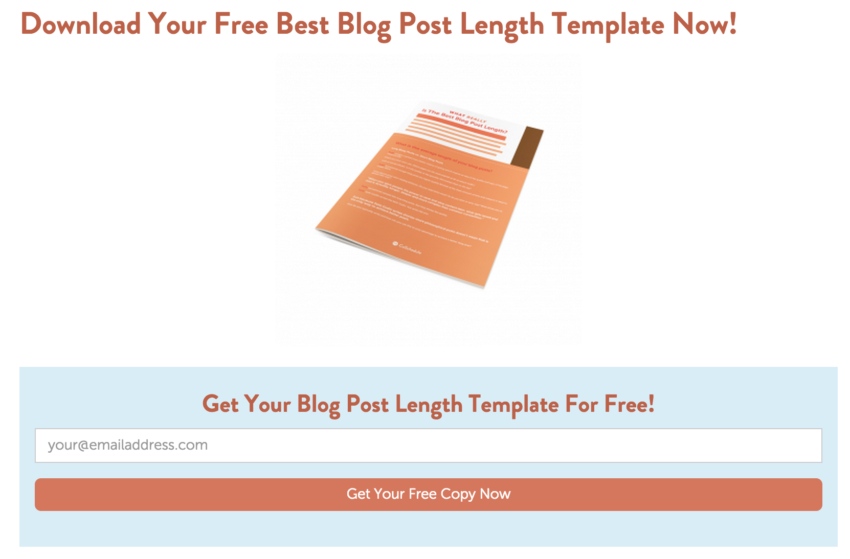 This offer is from a post  discussing the effectiveness of different blog post lengths .