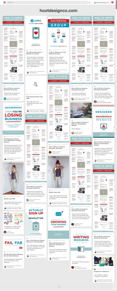 See everything pinned from your website in one page! How to get started with Pinterest Analytics –for bloggers, ecommerce, website owners. | Hoot Design Co.