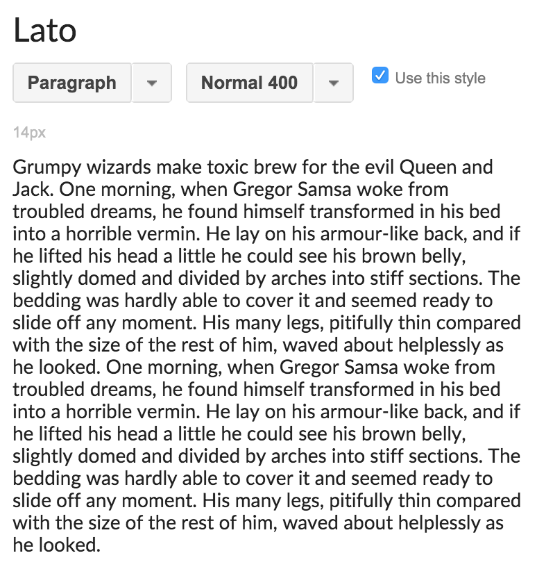 The best sans-serif fonts on Google fonts –Lato. Lato came on the scene recently and has exploded all over popular brands – from Slack to Starbucks. One reason it's so popular is that Lato comes in X styles, from hairline-thin to super black. Additionally, Lato's modern italics look great at all weights! | Hoot Design Co.