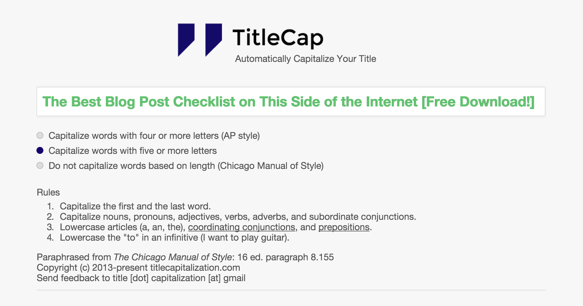 This tool is awesome for checking your capitalization. | Hoot Design Co.