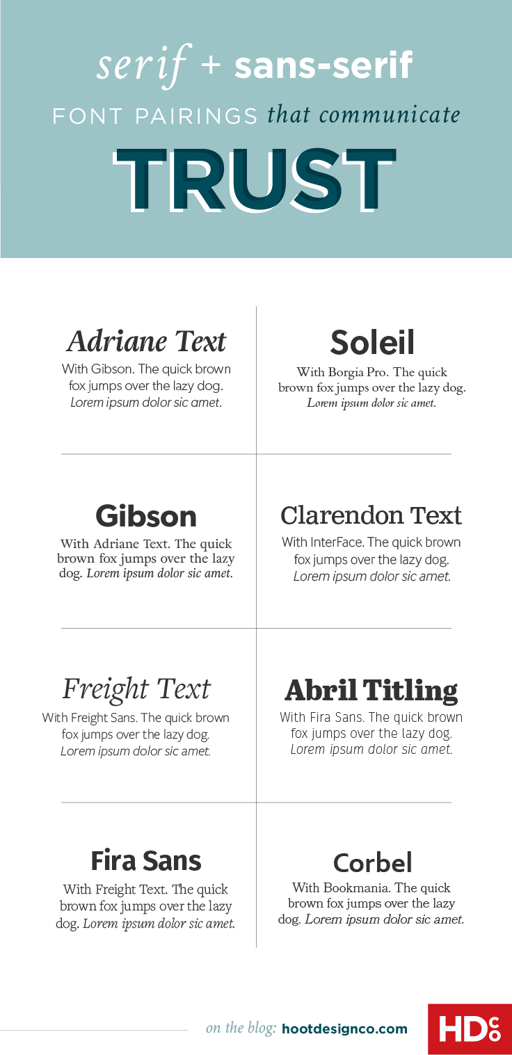 8 Fresh Font Pairings That Will Make Your Audience Trust You