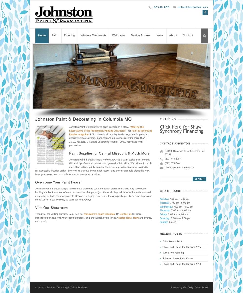 Johnston Paint and Decorating • Hoot Design Co. | Web Design ...