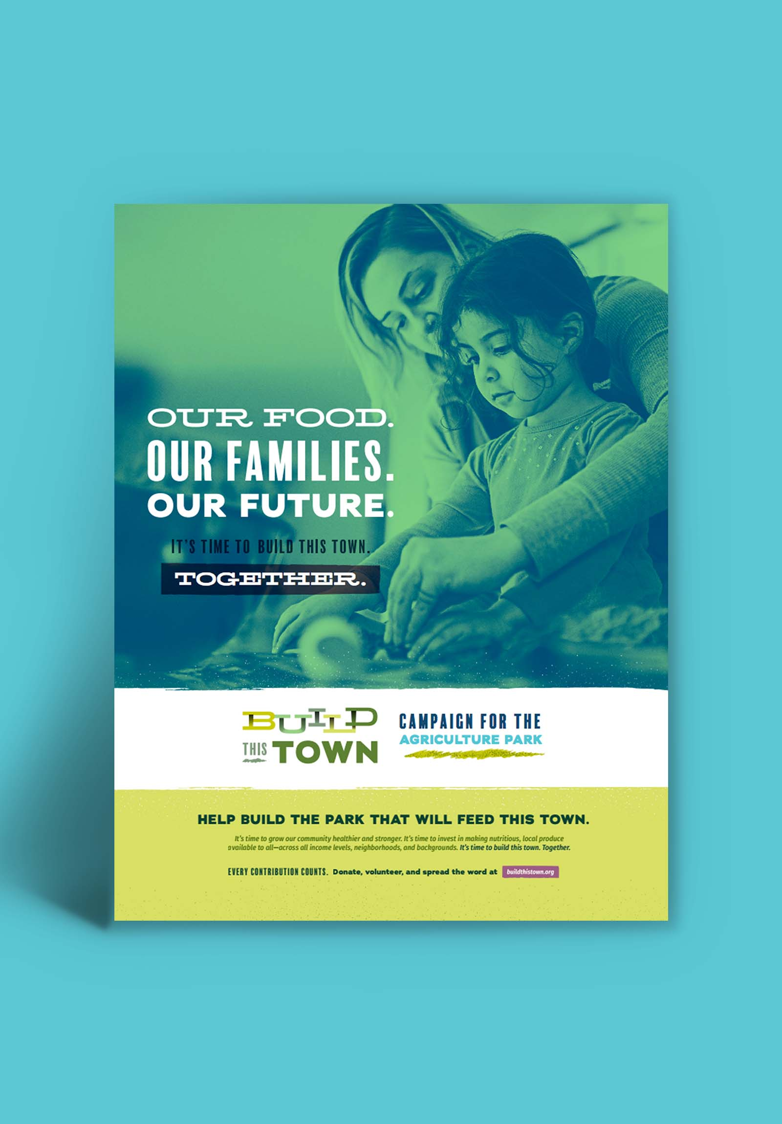 Advertising campaign for Build this Town: poster