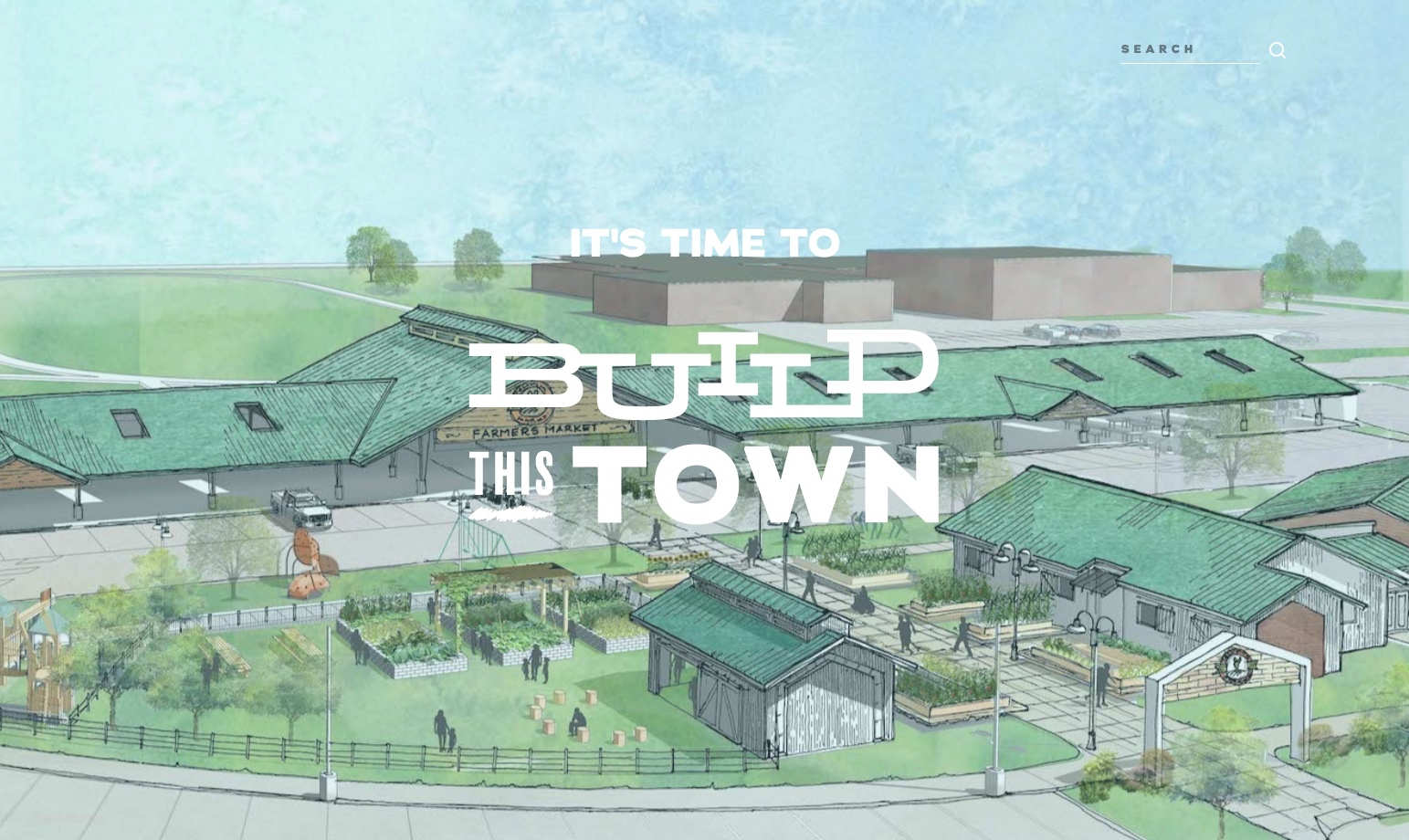 Advertising campaign for Build This Town by Hoot Design Co.