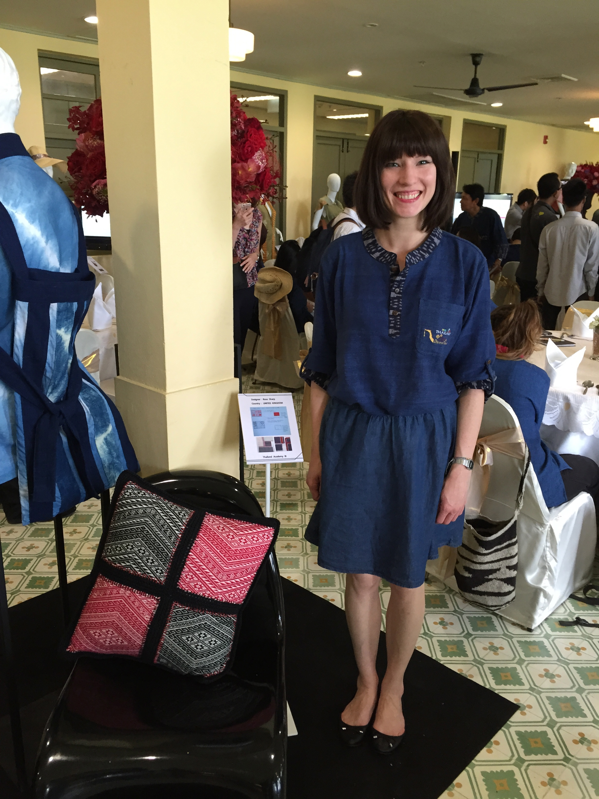 Rose Sharp-Jones' detail knitted pillow case