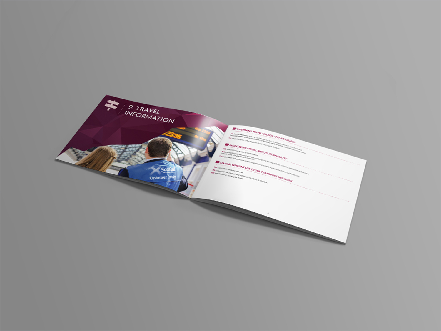 Recently we have used the 2015-16 Annual report to further update the identity we designed for Tactran's publications.