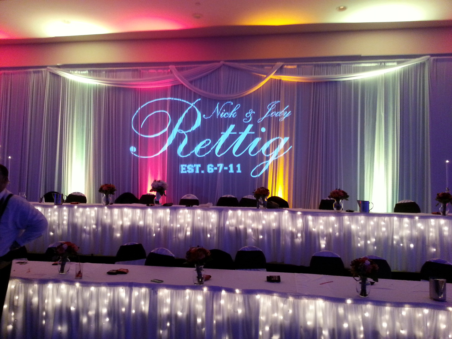 Head table back drop