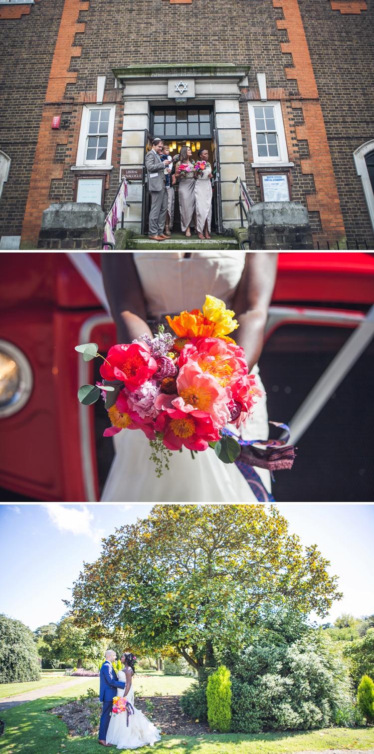 A VERA WANG BRIDE FOR A JEWISH GHANAIAN WEDDING AT SOUTH LONDON LIBERAL SYNAGOGUE AND NONSUCH MANSION, SURREY, UK
