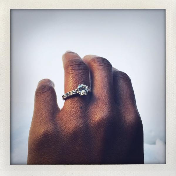 Lupita, Diamond Solitaire Ring