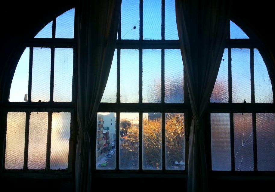 FIVE HUGE ARCHED WINDOWS