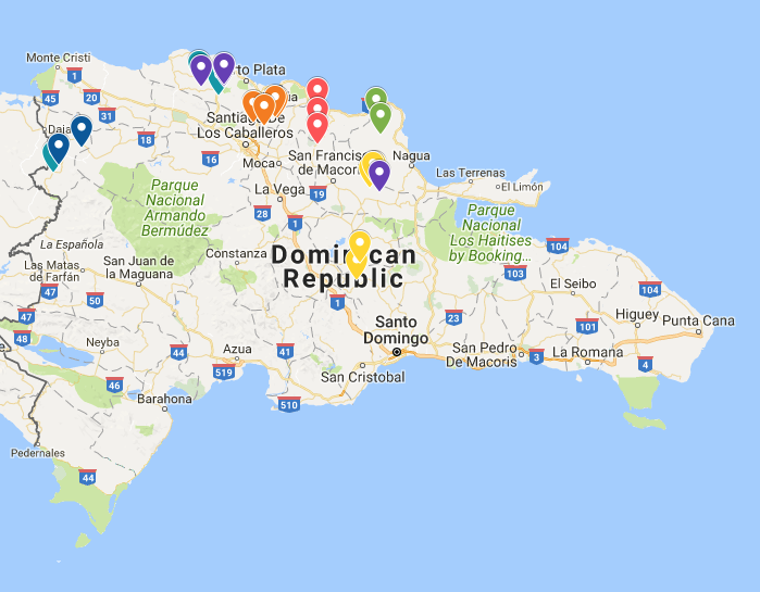 Click on the map to see where your trip will be working in the Dominican Republic.