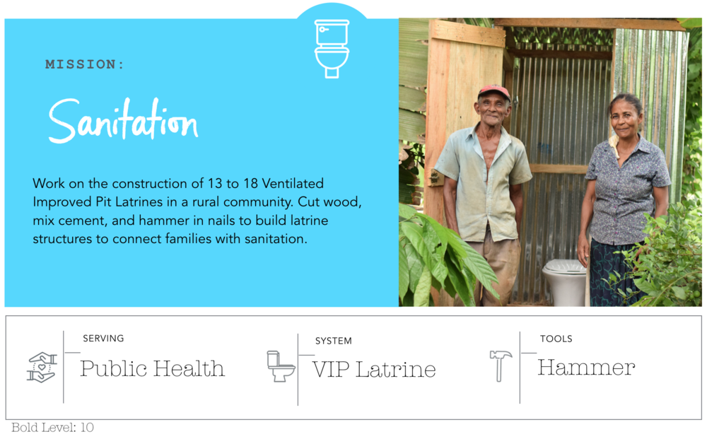 Sanitation Project: BLUE Missions