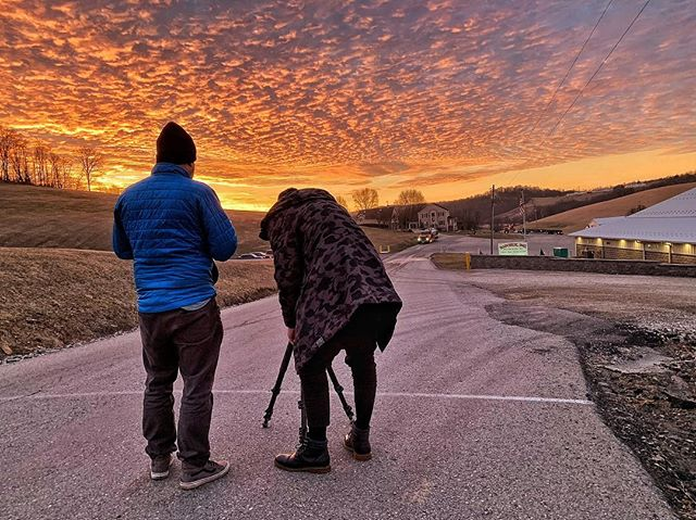 This sunrise 🌅 over Washington, PA wowed is yesterday morning! @roderickoc and @cltproduction set up the shot 🎥on location at #HapchukInc for #Navistar and @hillintltrucks. Thanks for the great capture 📸@jack.goodwinphoto !! Also check out our company page on LinkedIn for more BTS shots, our work, and things that inspire us!