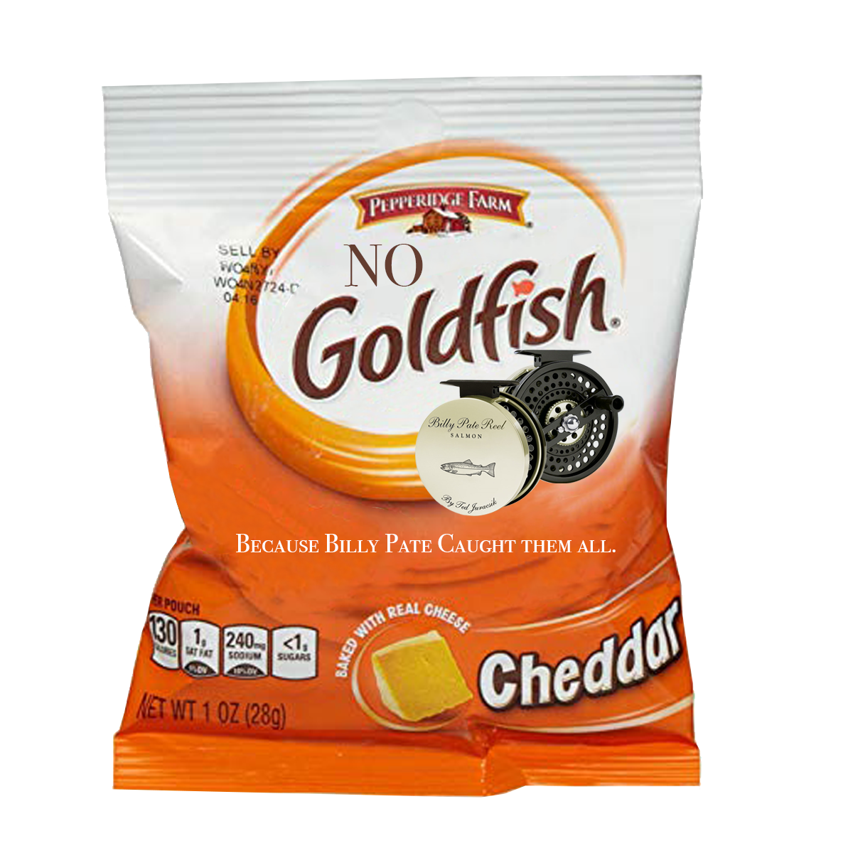 The goldfish on Billy Pate's limited edition Goldfish packs have gone missing, showing that Billy Pate helps you relentlessly land them all.
