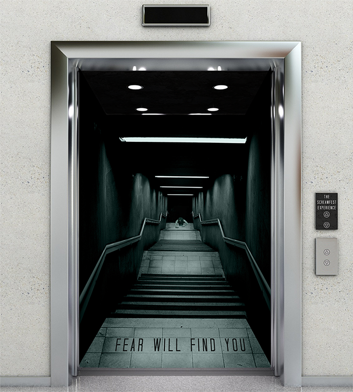 There's no escaping fear when your elevator is a passageway to the underworld.  The 360° display immerses you into a chilling scene.