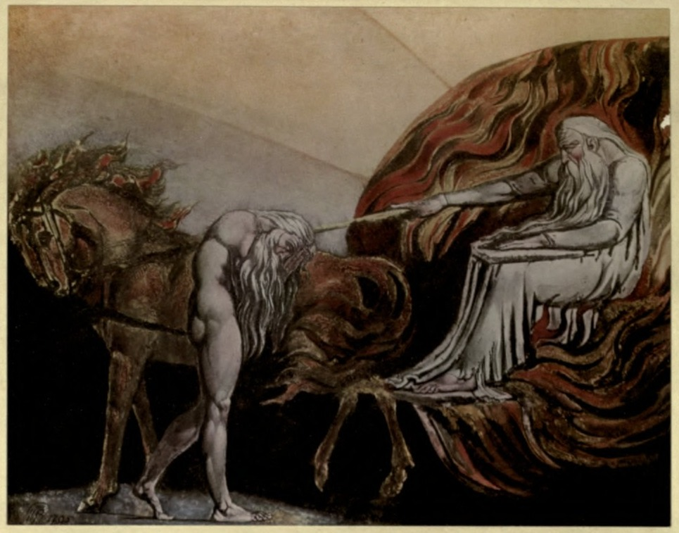 Blake's  Elijah About to Ascend in the Chariot of Fire  (1795)