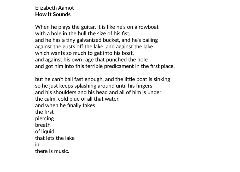 "Elizabeth Aamot ""How it Sounds"""