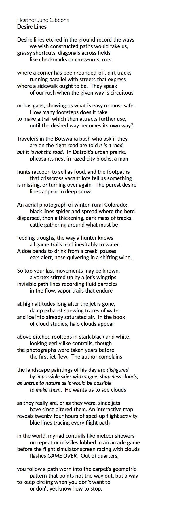 "Heather June Gibbons ""Desire Lines"""