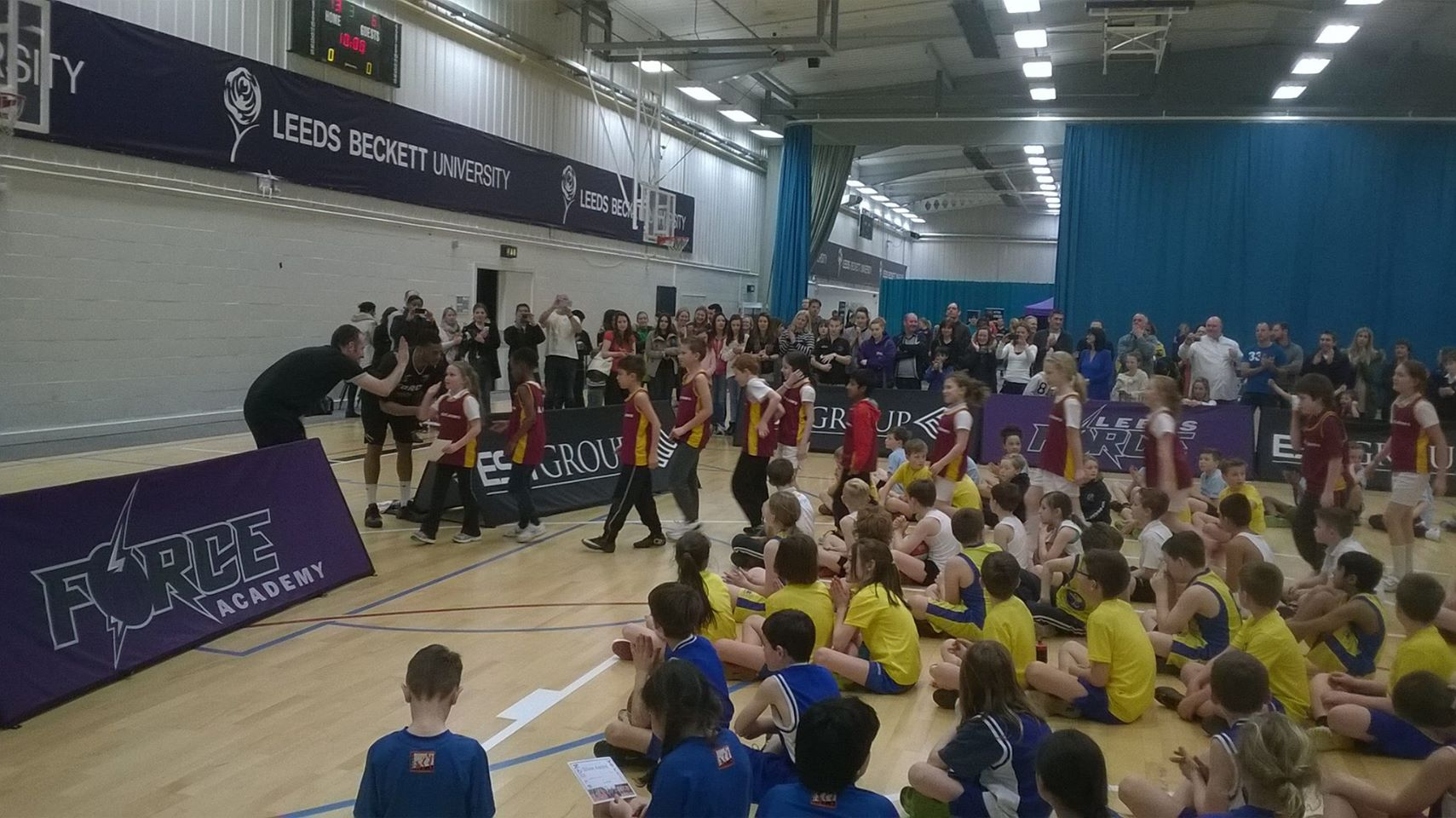 Leeds North West Basketball Y4 5 Finals 2014-15 2nd place Adel St John's